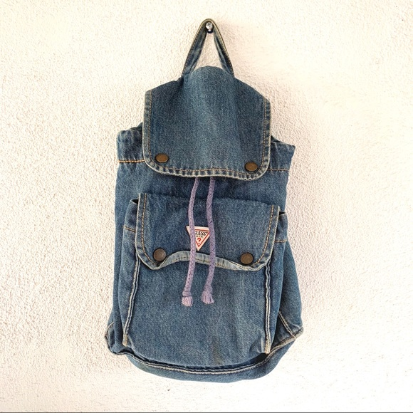 Guess Bags   Vintage Denim Small Backpack   Poshmark 80d5495c54